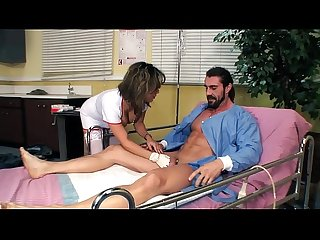 Nurse Sienna West Helps Limp Dick Patient Get Hard