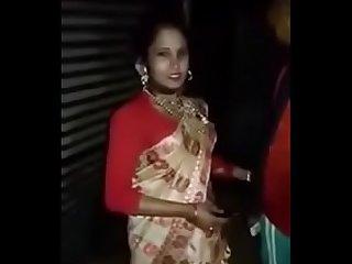 Prostitute giving handjob in public