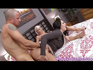 Classy stepmom pounded in threeway