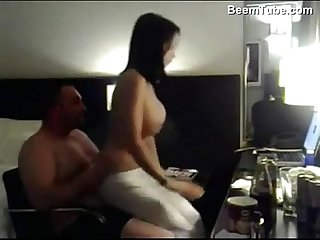 Big dude fucking his lean wife