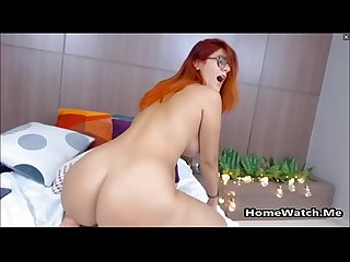 Sexy Redhead Teen With Huge Ass Takes On A Fat Cock