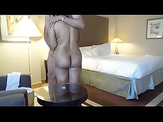 Indian booty wife kajol naked with her husband in hotel room jerking