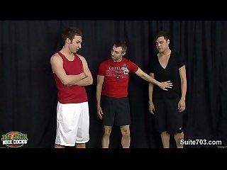 Three nasty jocks fucking hard