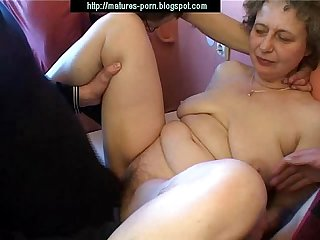 Russian granny group sex with young boys