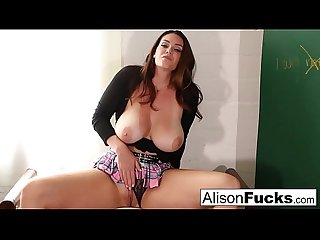 Naughty Masturbating School girl has to stay after school