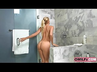 MILF Alexis Fawx got hardcore pounding from step son under the shower