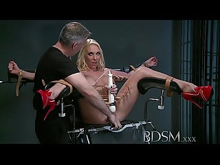 BDSM XXX Defiant sub gets Masters wrath before squirting over the dungeon floor